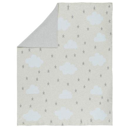 Alvi® strikket teppe Skyblått 75 x 100 cm