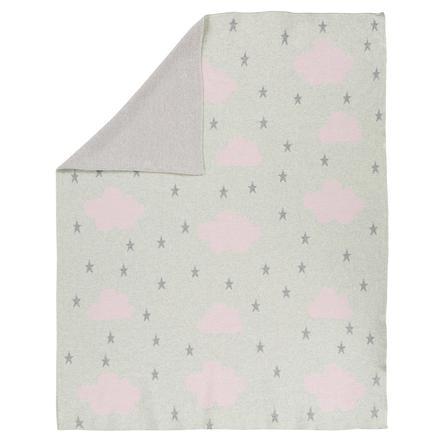 Alvi® Strickdecke Cloud rosa 75 x 100 cm