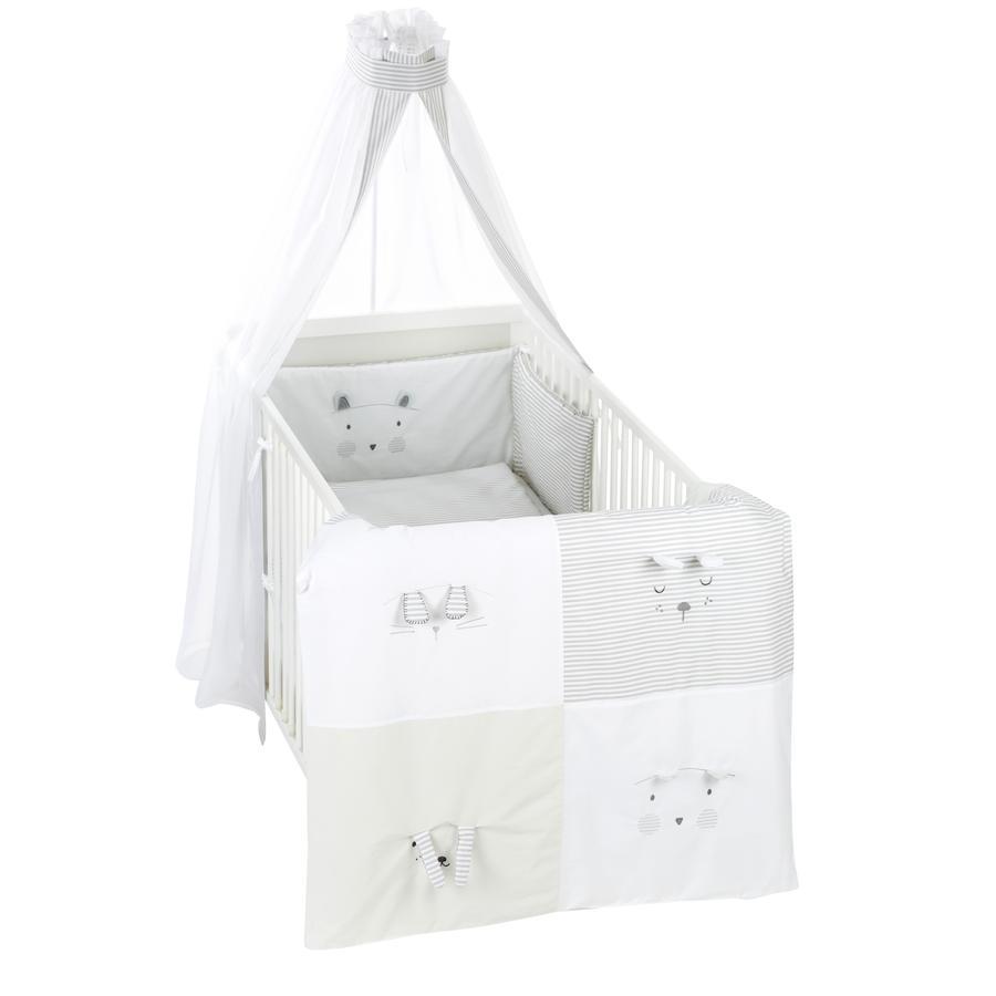 Alvi® Parure de lit enfant à barreaux Faces, 3 pièces 100x135 cm