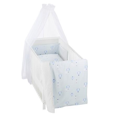 Alvi® Parure de lit enfant à barreaux montgolfières, 3 pièces 100x135 cm