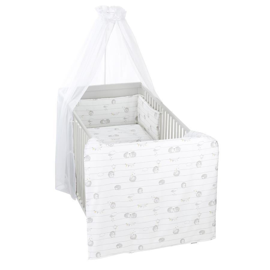 Alvi® Parure de lit enfant à barreaux amis hérissons, 3 pièces 100x135 cm
