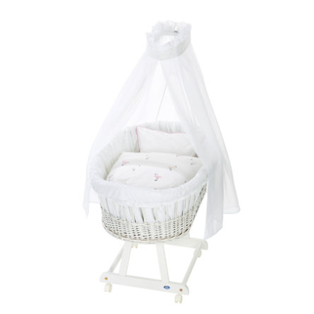 Alvi ® Complete Birth bassinet e white, Flamingo