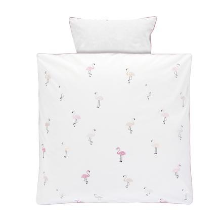 Alvi® Bettwäsche 80 x 80 cm, Flamingo