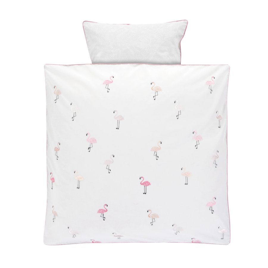 Alvi ® sängkläder 80 x 80 cm, Flamingo
