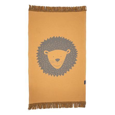 DAVID FUSSENEGGER tæppe løve med frynser 70 x 120 cm