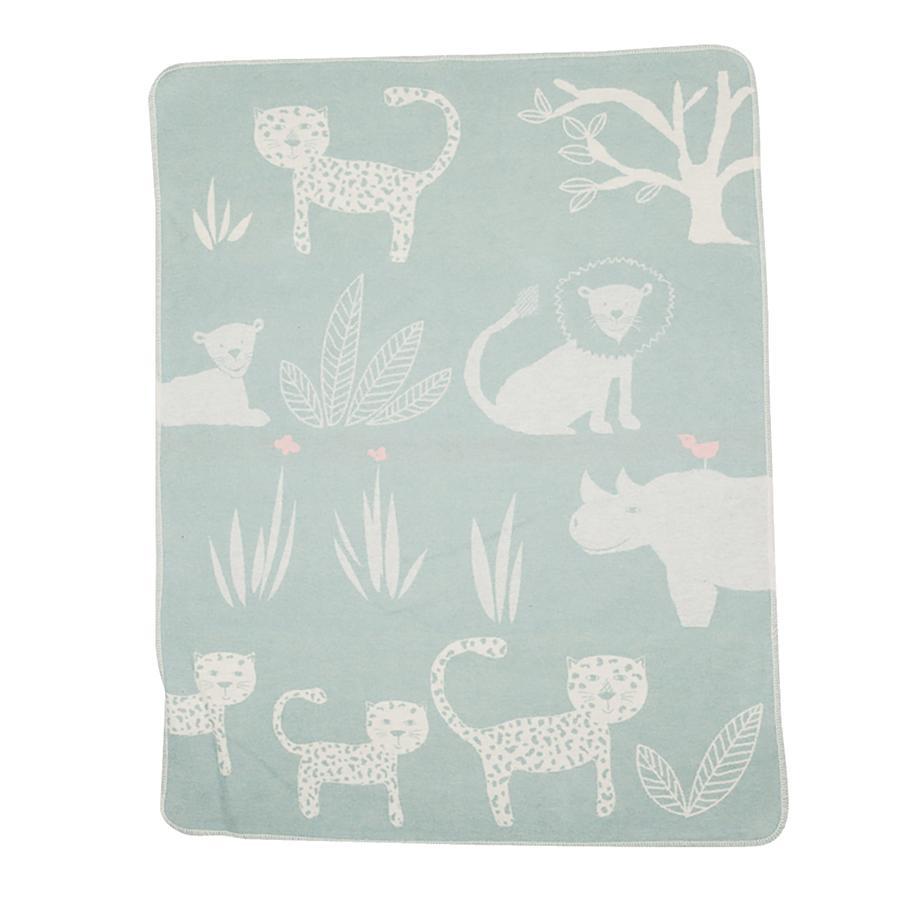 DAVID FUSSENEGGER Manta para bebés verde claro de la selva 70 x 90 cm