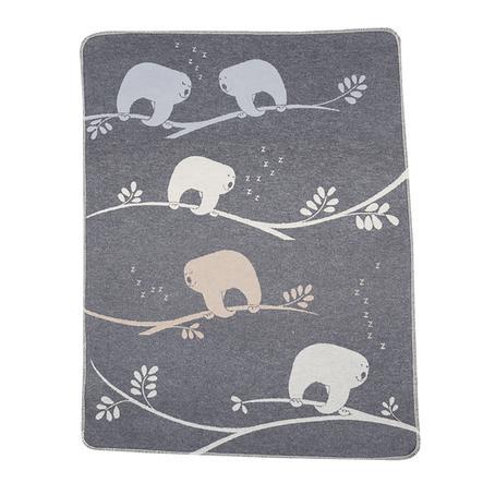 DAVID FUSSENEGGER Manta para bebés perezoso gris 70 x 90 cm