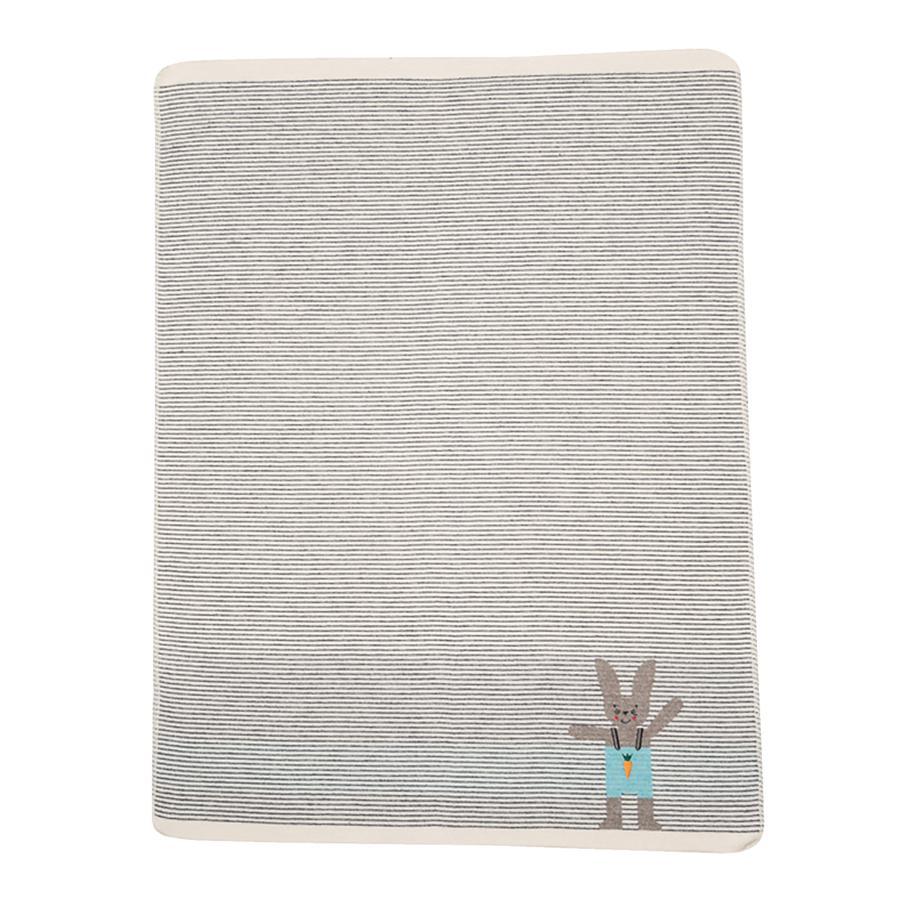 DAVID FUSSENEGGER Dětská přikrývka zajíček šedá 70 x 90 cm