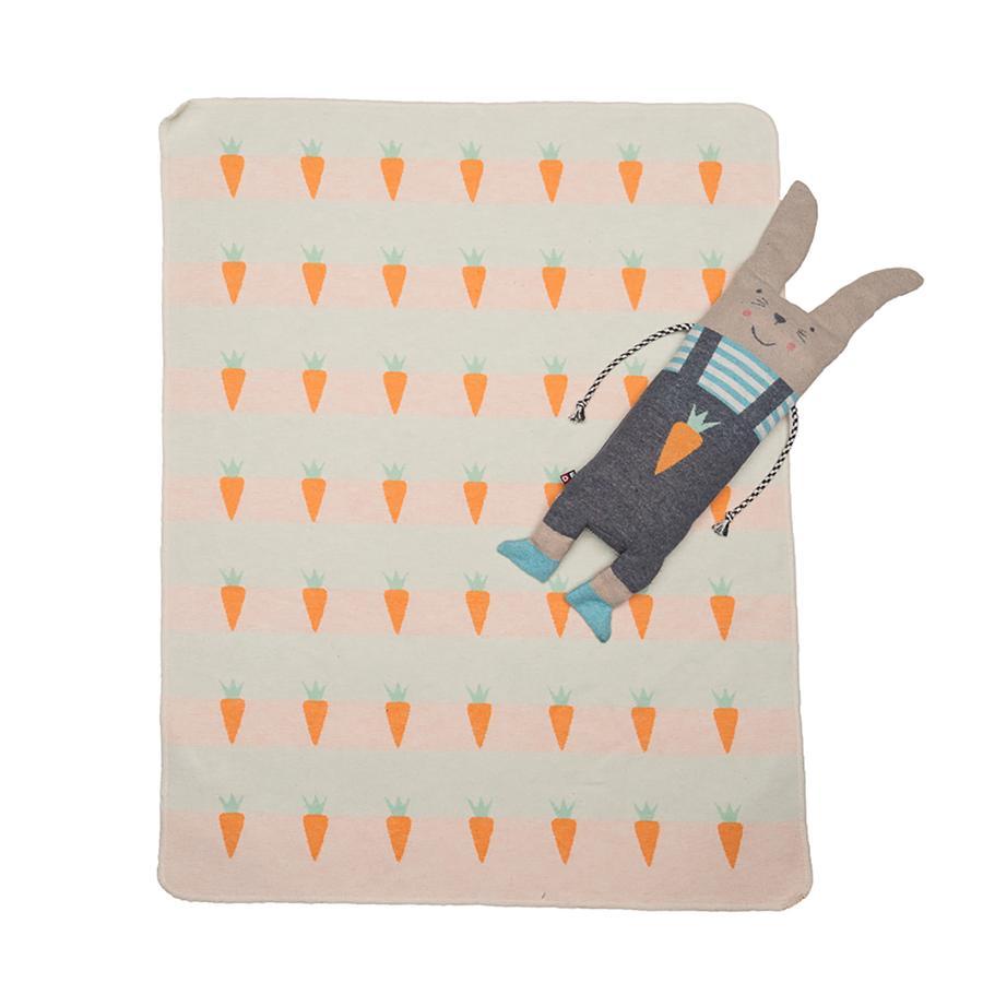 DAVID FUSSENEGGER Set Decke in Puppe Hase weiß 70 x 90 cm