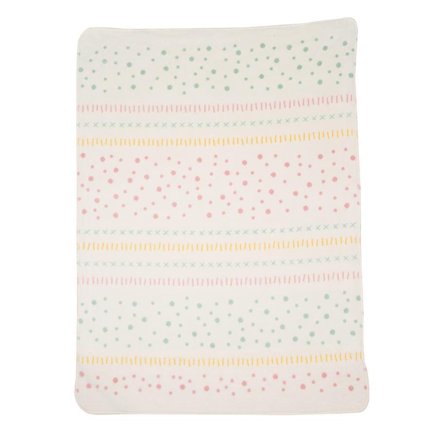 DAVID FUSSENEGGER Manta de algodón de puntos rosa viejo 75 x 100 cm