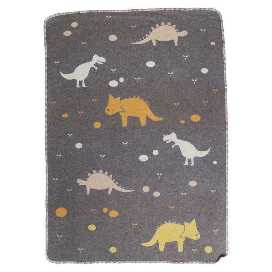 DAVID FUSSENEGGER Manta para bebés Dinos gris 70 x 90 cm