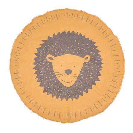 DAVID FUSSENEGGER Lezecká přikrývka leva lemovaná zlatem kulatá 120 cm