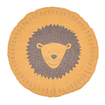 DAVID FUSSENEGGER Manta de arrastre de león forrada de oro redonda de 120 cm