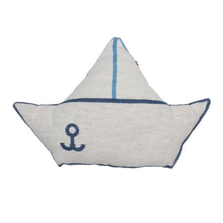 DAVID FUSSENEGGER poduszka statek niebieski 30 x 40 cm