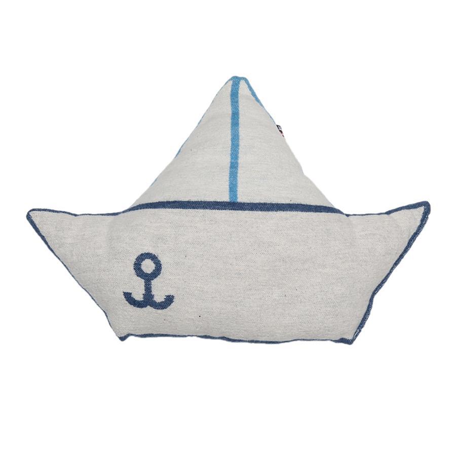 DAVID FUSSENEGGER Kissen Schiff blau 30 x 40 cm
