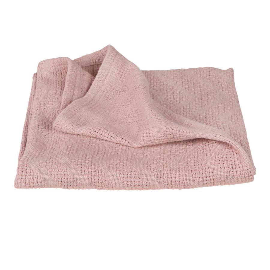 roba Couverture bébé style tricot Lil Planet rose 80x80 cm