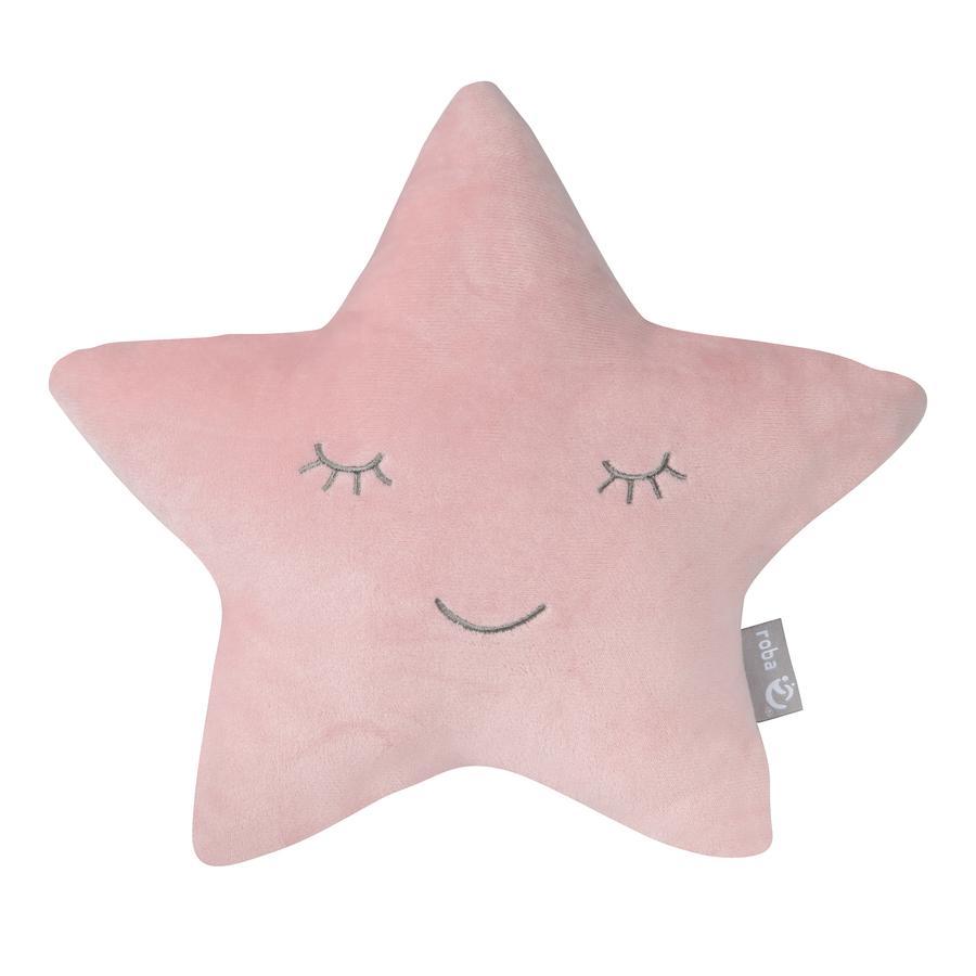 roba Kuschel-und Dekokissen Stern Style rosa