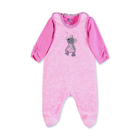 Sterntaler Ensemble grenouillère t-shirt enfant Nicki Mabel mélange rose