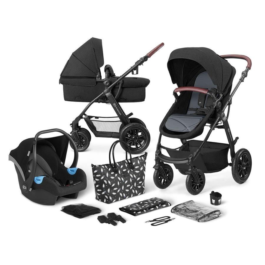 Kinderkraft Carro de bebé combi 3 en 1 XMoov Black