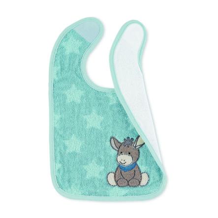 Sterntaler Plastic velcro smekke Emmi medium blå