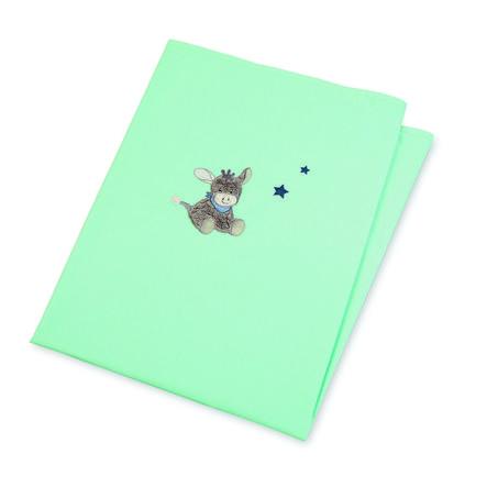 Sterntaler Couverture bébé anti-UV Emmi l'âne bleu 100x70 cm