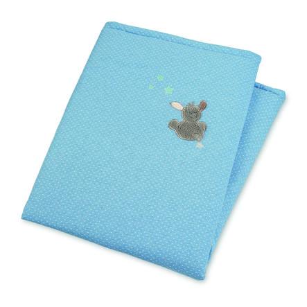 Sterntaler Couverture bébé ouatinée Emmi âne bleu 100x75 cm