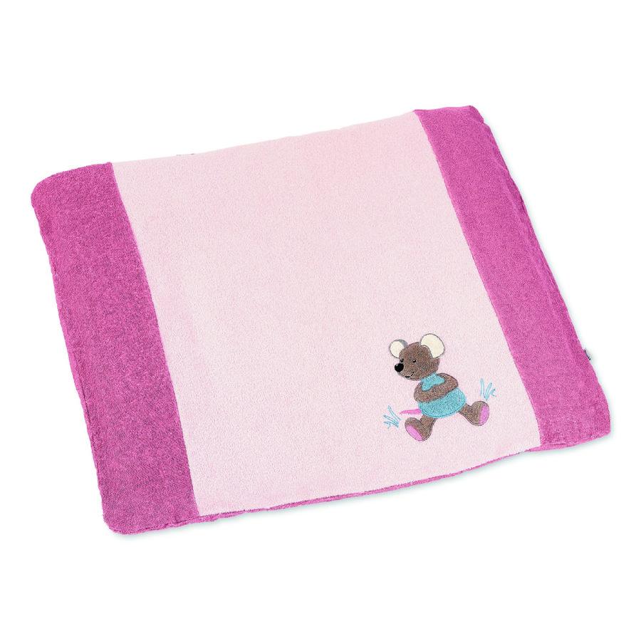 Sterntaler Vaihtuva mattopeite Mabel pehmeä vaaleanpunainen 85 cm x 72 cm