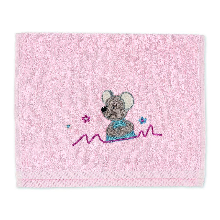 Sterntaler Serviette pour enfants Mabel rose tendre 50 x 30 cm