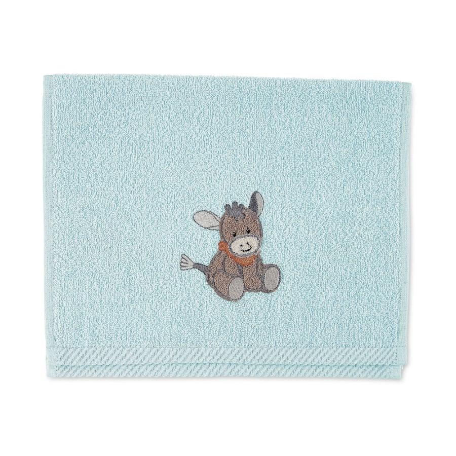 Sterntaler Asciugamano per bambini Emmi azzurro 50 x 30 cm