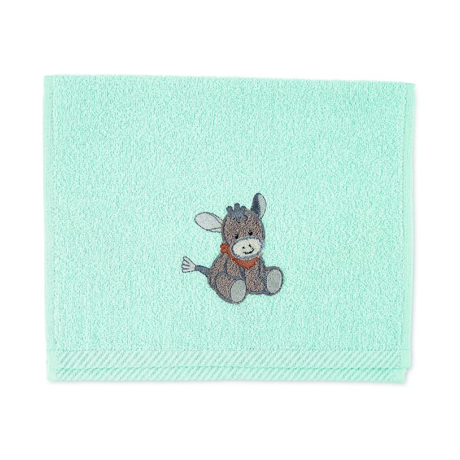 Sterntaler Serviette de bain enfant Emmi bleu clair 50x30 cm