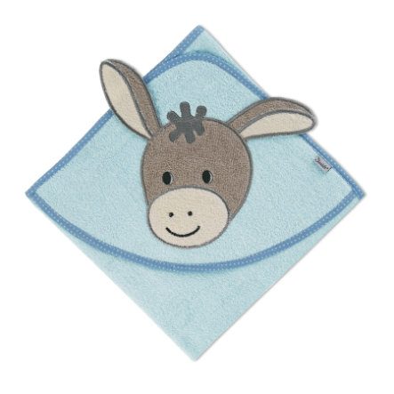 Sterntaler Serviette de bain à motif Emmi bleu clair 80 x 80 cm