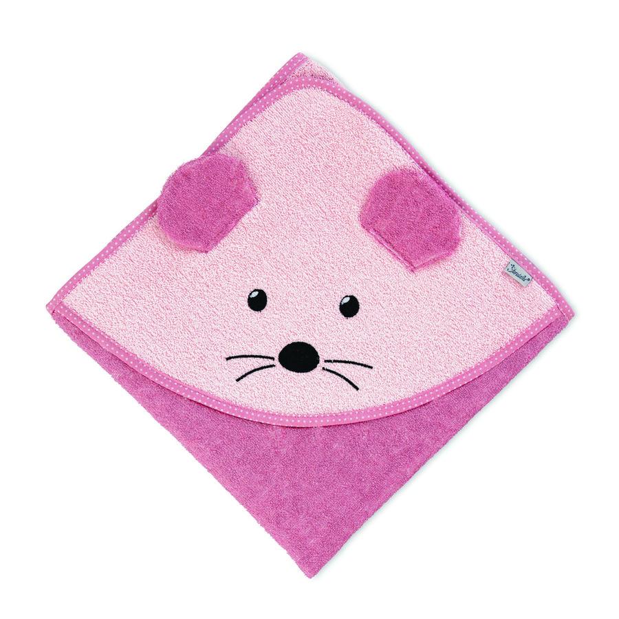 Sterntaler Håndklæde med hætte Mabel pink 100 x 100 cm