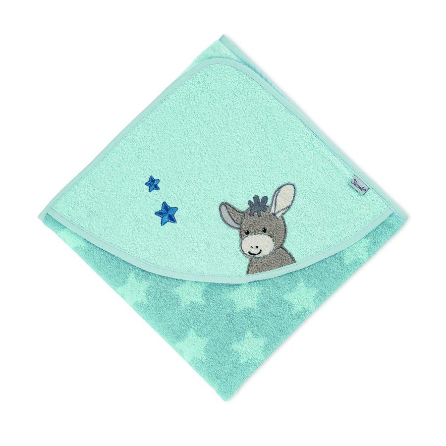 Sterntaler Toalla de baño con capucha Emmi azul medio 100 x 100 cm