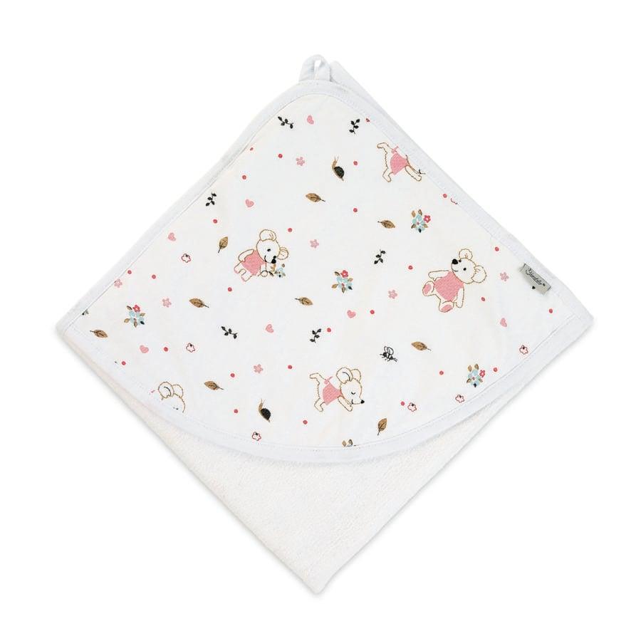 Sterntaler Asciugamano con cappuccio Mabel bianco 80 x 80 cm