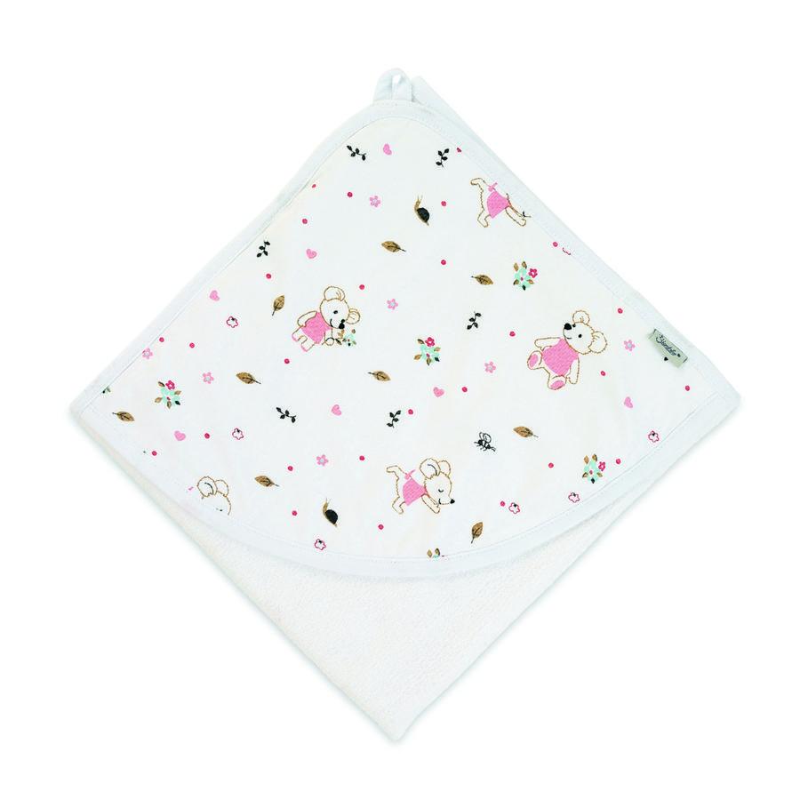 Sterntaler Håndklæde med hætte Mabel hvid 80 x 80 cm