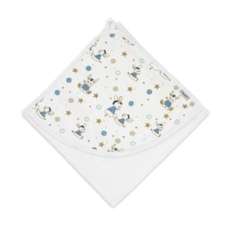 Sterntaler Hettehåndkle Jersey Emmi hvit 80 x 80 cm
