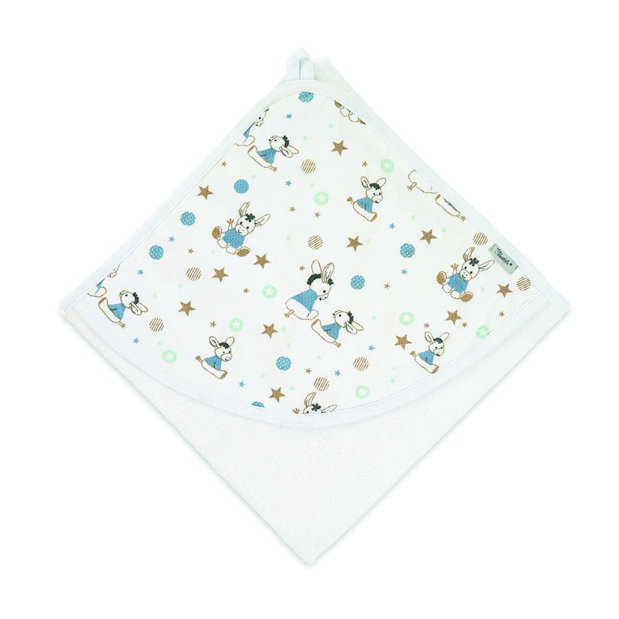 Sterntaler Hættehåndklæde Jersey Emmi hvid 80 x 80 cm