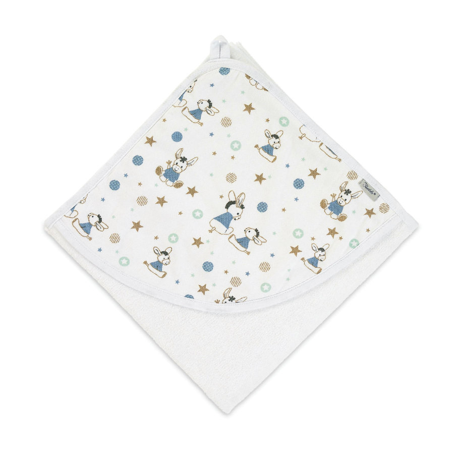 Sterntaler Kapuzenbadetuch Jersey Emmi weiß 80 x 80 cm