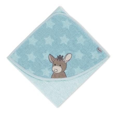Sterntaler Cape de bain enfant Emmi âne bleu clair 80x80 cm