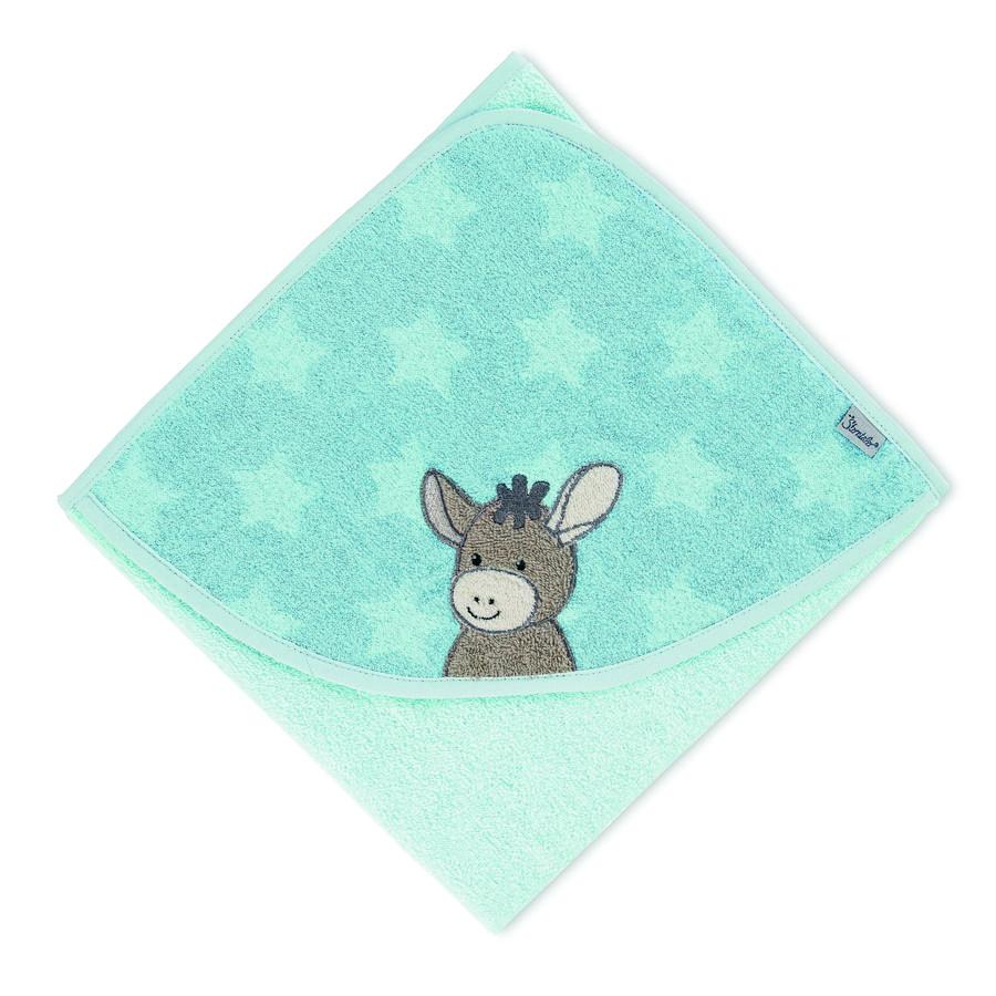Sterntaler Asciugamano da bagno Emmi azzurro 80 x 80 cm