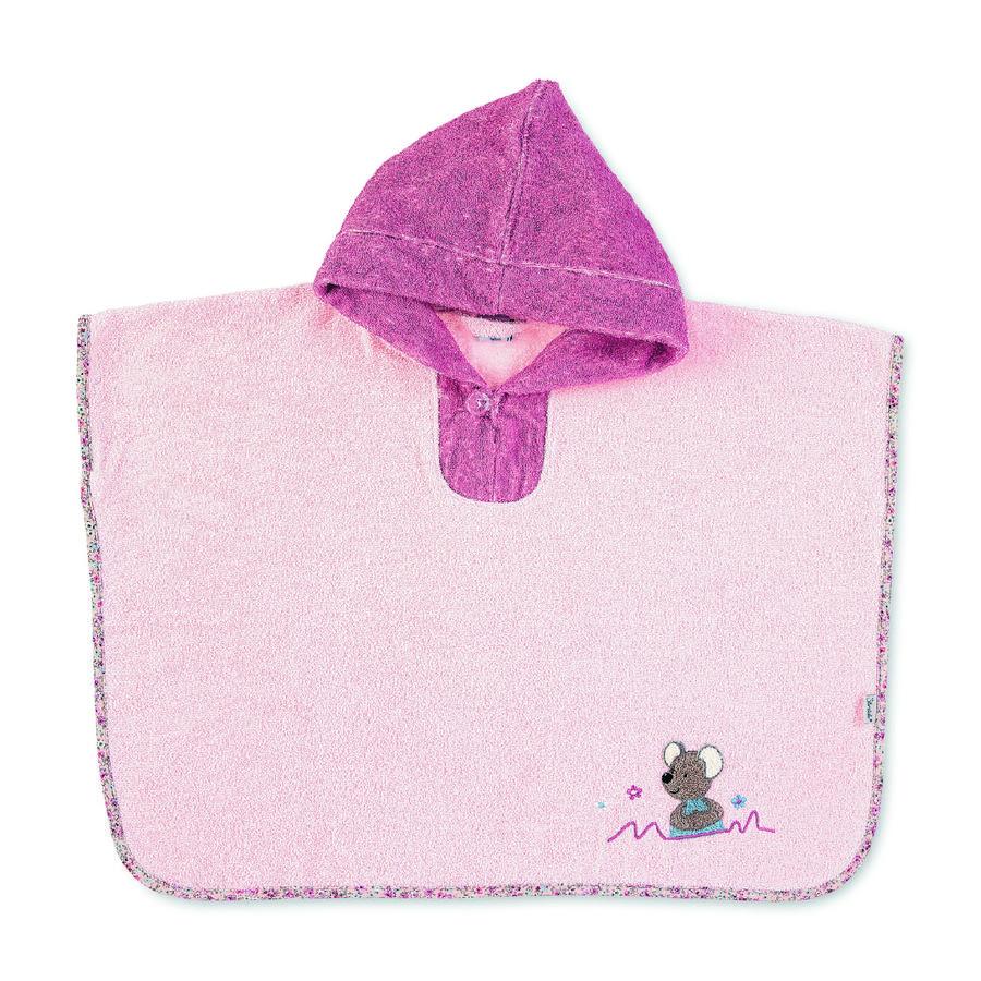 Sterntaler Bad poncho Mabel zacht roze