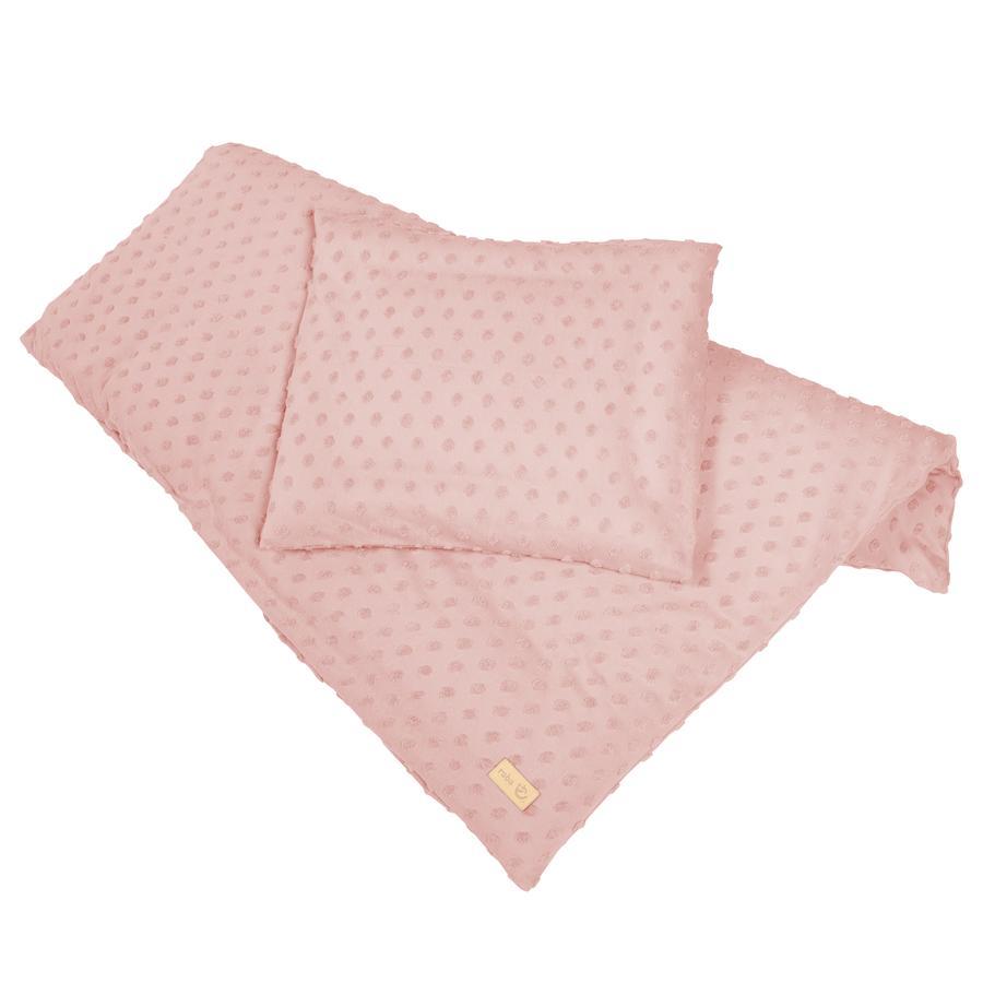 roba Cradle sängkläder 2-delad 80 x 80 cm Lil Planet rosa