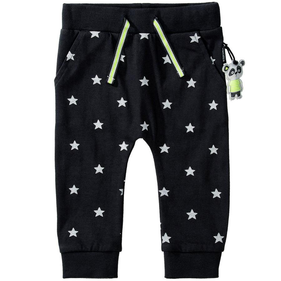 STACCATO Sweatpants anthra star mønster