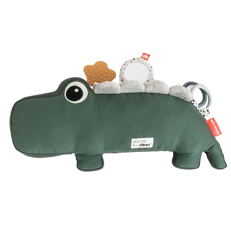 Done by Deer Activity hračka Tummy Time Croco, zelená