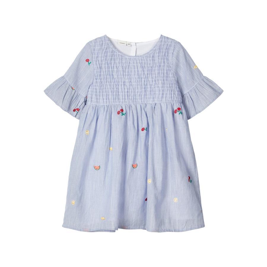 pojmenujte to Dívčí šaty Nmfdenise oslnivě modré