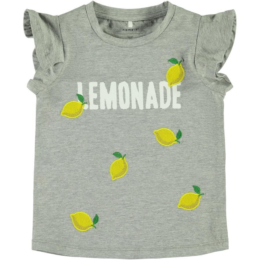 name it Girls T-Shirt Nmfdara gris melange