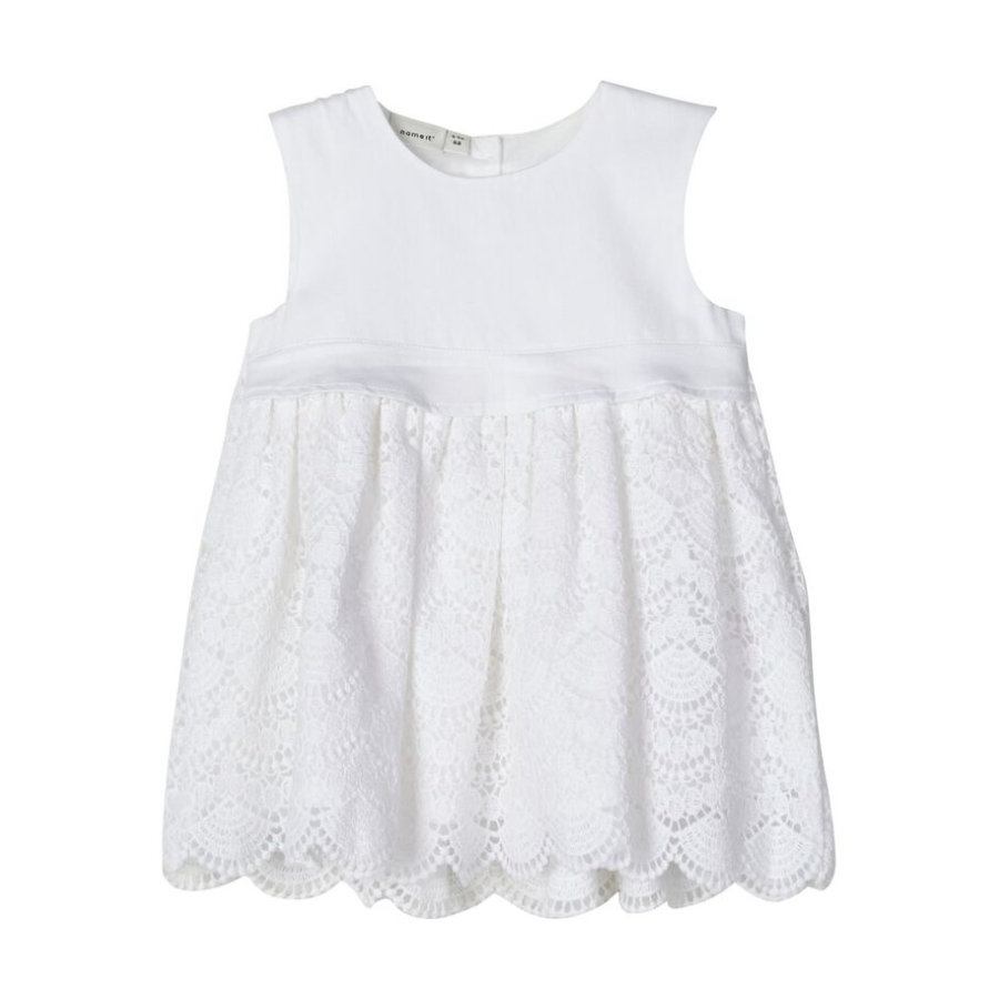 name it Girls Kleid Nbfdania bright white