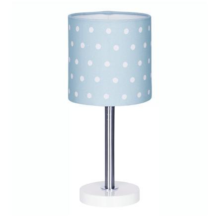 LIVONE Tischlampe Happy Style for Kids DOTS blau/weiss