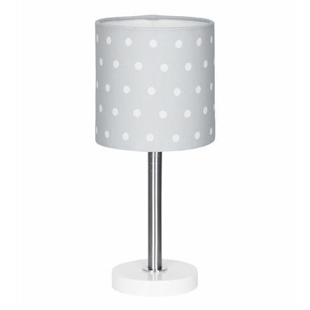 LIVONE lampada da tavolo Happy Style per bambini DOTS grigio argento/bianco