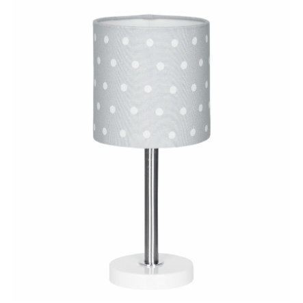 LIVONE Tischlampe Happy Style for Kids DOTS silbergrau/weiss